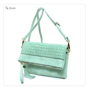 Handbags - NEW Woven Bifold Crossbody Clutch